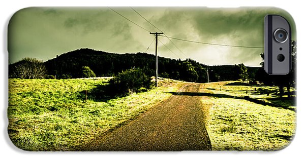 Overcast Storm Road IPhone Case by Jorgo Photography - Wall Art Gallery