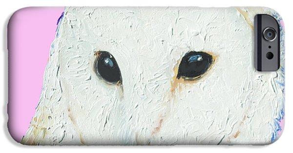 Owl Painting On Pink Background IPhone 6s Case by Jan Matson