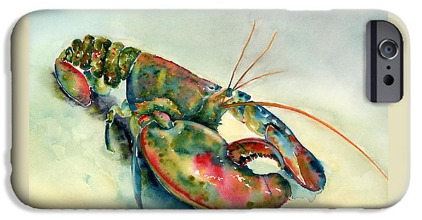 Painted Lobster IPhone Case by Amy Kirkpatrick