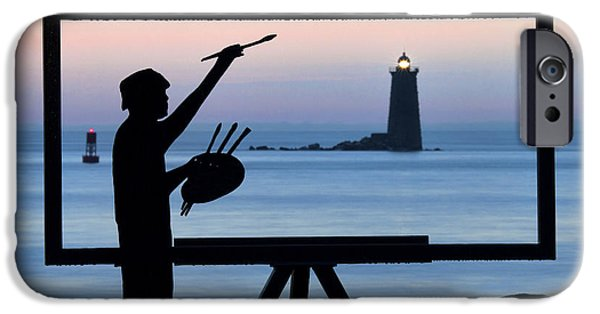Painter On The Nh Seacoast IPhone Case by Eric Gendron