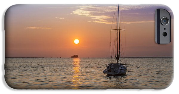 Palm Harbor Has The Best Sunsets IPhone Case by Bill Cannon
