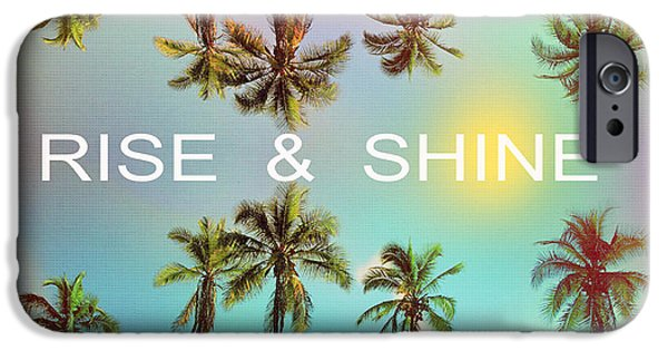 Palm Trees IPhone Case by Mark Ashkenazi