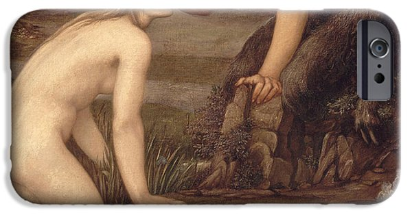 Pan And Psyche IPhone Case by Sir Edward Burne-Jones
