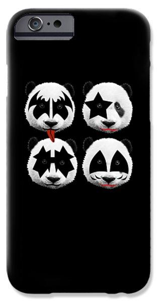 Panda Kiss  IPhone Case by Mark Ashkenazi