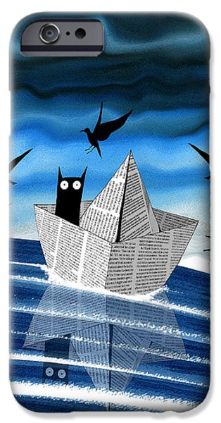 Paper Boat  IPhone Case by Andrew Hitchen