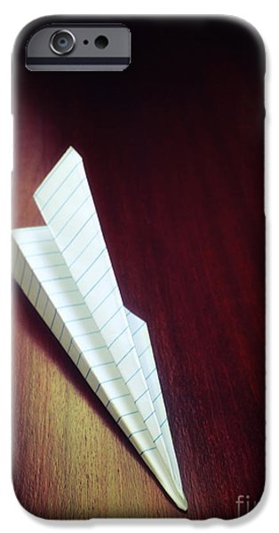 Paper Plane Toy IPhone Case by Carlos Caetano