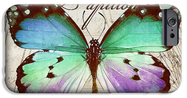 Papillon Blue IPhone Case by Mindy Sommers