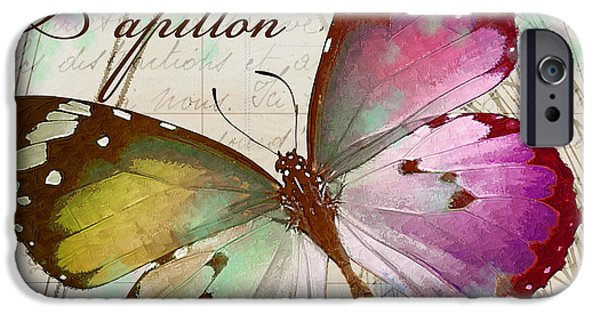 Papillon Pink IPhone Case by Mindy Sommers