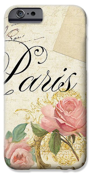 Parchment Paris - Timeless Romance IPhone Case by Audrey Jeanne Roberts