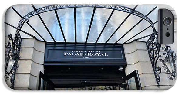 Paris Palais Royal Hotel Door - Paris Art Nouveau Hotel Palais Royal Entrance Architecture IPhone Case by Kathy Fornal