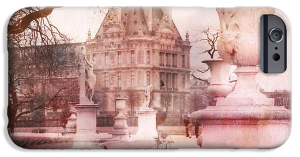 Paris Tuileries Park Garden - Jardin Des Tuileries Garden - Paris Tuileries Louvre Garden Sculpture IPhone 6s Case by Kathy Fornal