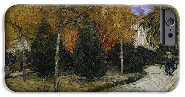 Path In The Park At Arles IPhone Case by Vincent Van Gogh