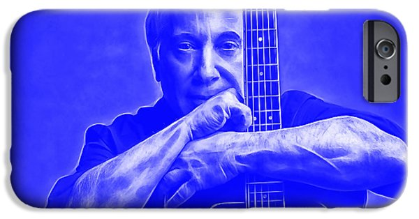 Paul Simon Collection IPhone Case by Marvin Blaine