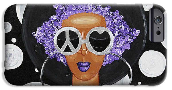 Peace, Love, Polka Dots IPhone Case by Aliya Michelle