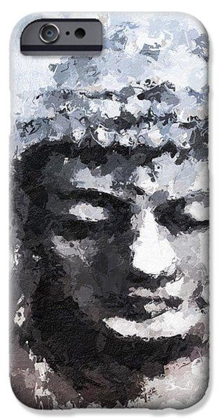 Peaceful Buddha- Art By Linda Woods IPhone Case by Linda Woods