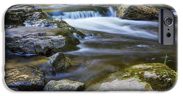 Peaceful Creek IPhone Case by Qingrui Zhang