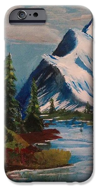 Peaceful Pines IPhone Case by Nura Abuosba