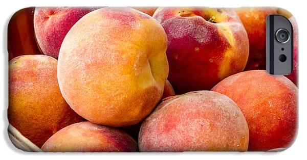 Peach Beauties IPhone Case by Teri Virbickis