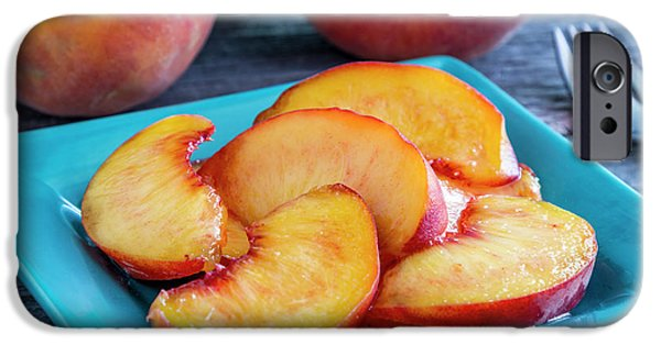 Peaches For Lunch IPhone Case by Teri Virbickis