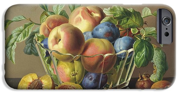 Peaches Plums And Apples IPhone Case by Anton Hartinger