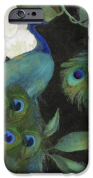Peacock And Magnolia II IPhone Case by Mindy Sommers