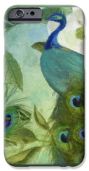 Peacock And Magnolia IIi IPhone Case by Mindy Sommers