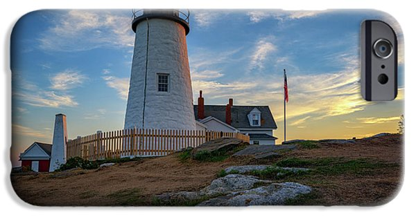 Pemaquid Point Lighthouse At Sunset IPhone Case by Rick Berk