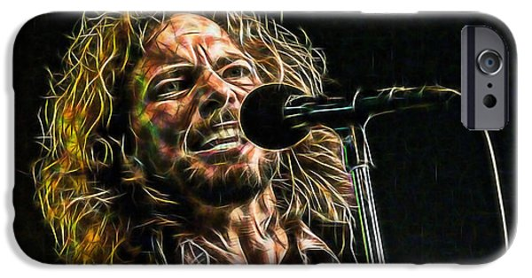 Pearl Jam Eddie Vedder Collection IPhone Case by Marvin Blaine