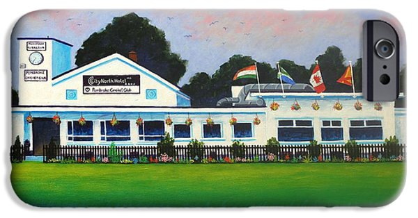 Pembroke Cricket Club - Dublin IPhone Case by John  Nolan