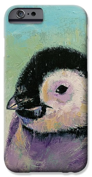 Penguin Chick IPhone Case by Michael Creese