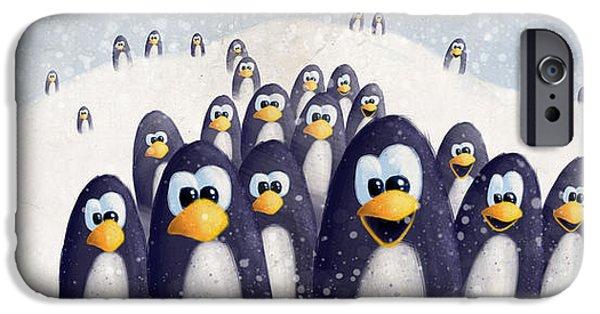 Penguin Winter IPhone 6s Case by David Breeding