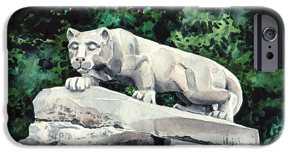 Penn State Nittany Lion Shrine University Happy Valley Joe Paterno IPhone 6s Case by Laura Row