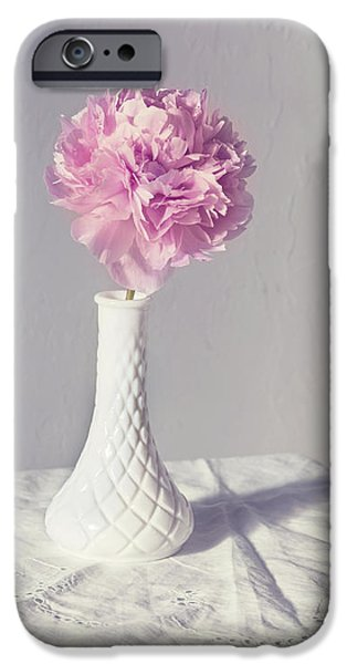 Peony In The Light IPhone Case by Kim Hojnacki