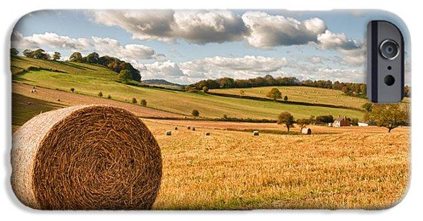 Perfect Harvest Landscape IPhone Case by Amanda Elwell