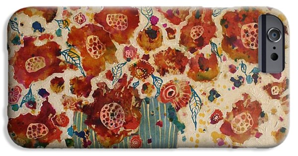 Petals And Leaves No. 4 IPhone Case by Jane Spakowsky