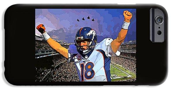 Peyton Manning Super Bowl Great  IPhone Case by John Malone