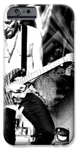 Phil Collen Of Def Leppard 4 IPhone Case by David Patterson