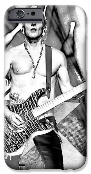 Phil Collen With Def Leppard IPhone Case by David Patterson