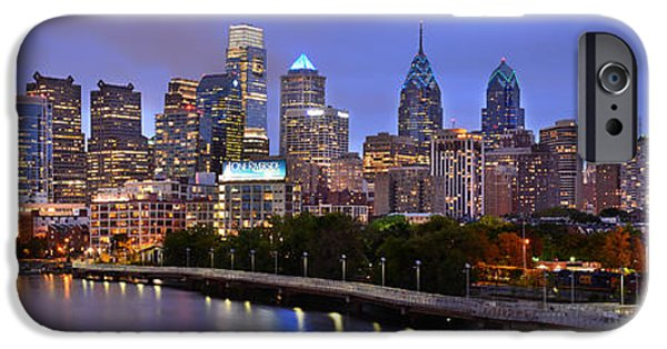 Philadelphia Philly Skyline At Dusk From Near South Color Panorama IPhone 6s Case by Jon Holiday