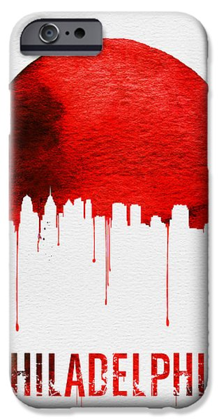 Philadelphia Skyline Redskyline Red IPhone 6s Case by Naxart Studio
