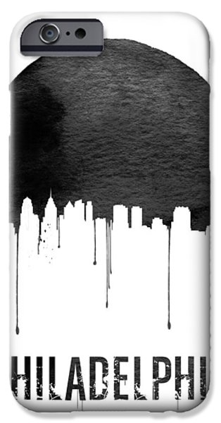 Philadelphia Skyline White IPhone 6s Case by Naxart Studio