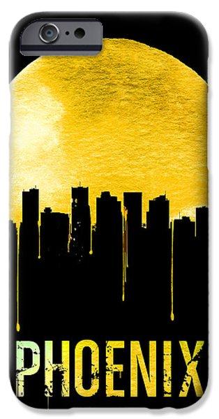 Phoenix Skyline Yellow IPhone 6s Case by Naxart Studio