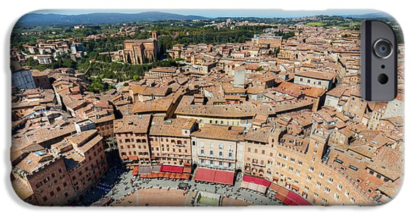 Piazza Del Campo, Campo Square In Siena, Tuscany, Italy IPhone Case by Michal Bednarek
