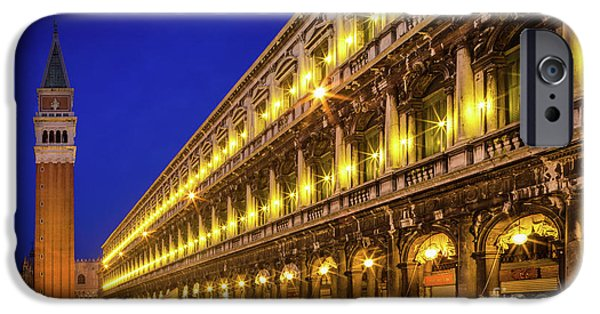 Piazza San Marco By Night IPhone Case by Inge Johnsson