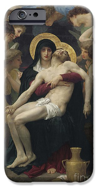 Pieta IPhone Case by William Adolphe Bouguereau