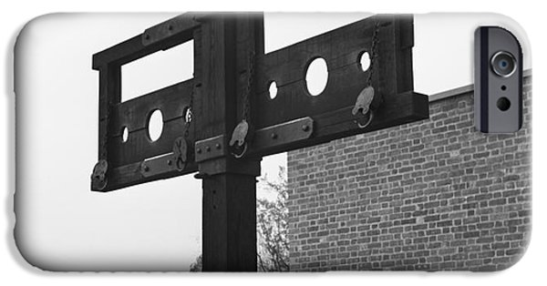 Pillory In Colonial Williamsburg IPhone Case by H. Armstrong Roberts/ClassicStock