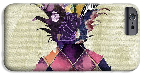 Pineapple Brocade II IPhone Case by Mindy Sommers