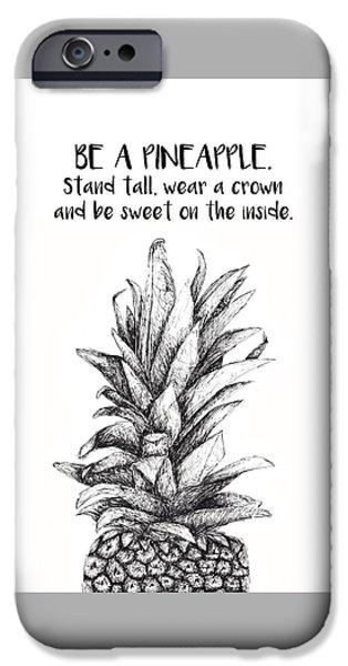 Pineapple IPhone Case by Nancy Ingersoll