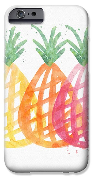 Pineapple Trio IPhone Case by Linda Woods