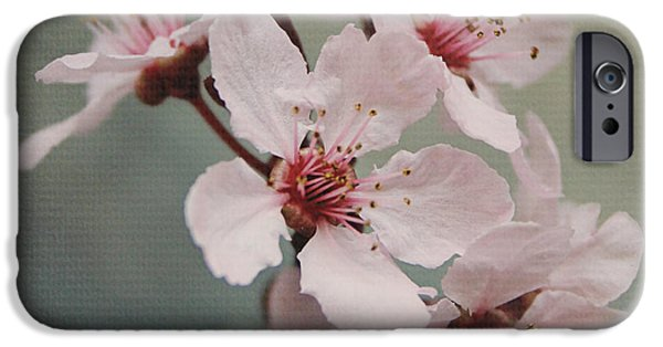 Pink Blossoms 2- Art By Linda Woods IPhone Case by Linda Woods